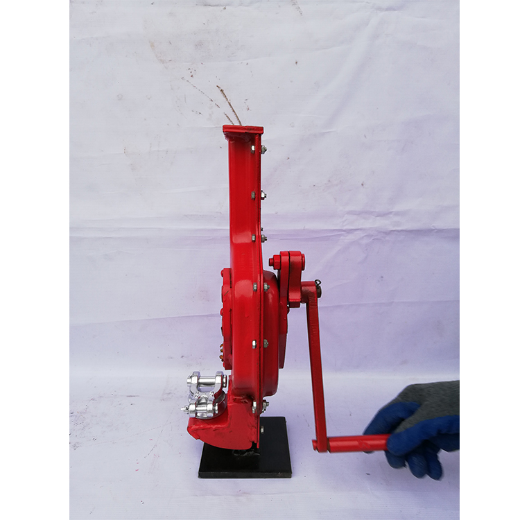 3ton 5ton 10ton 20 ton KD type  manual hand mechanical screw steel lifting jack price rack and pinion jack