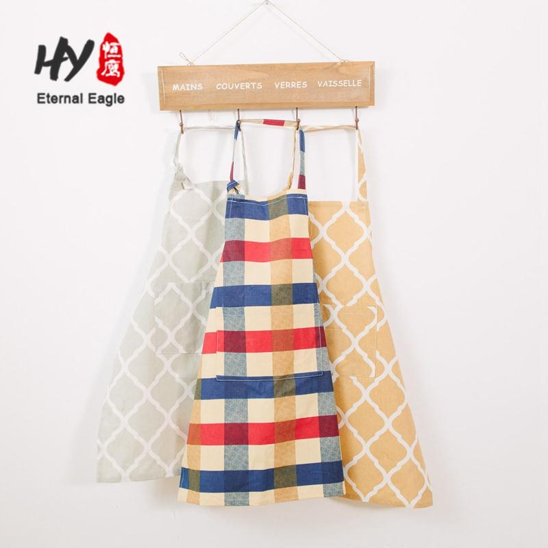 chinise manufacture 100% cotton natural material receycled logo chef aprons