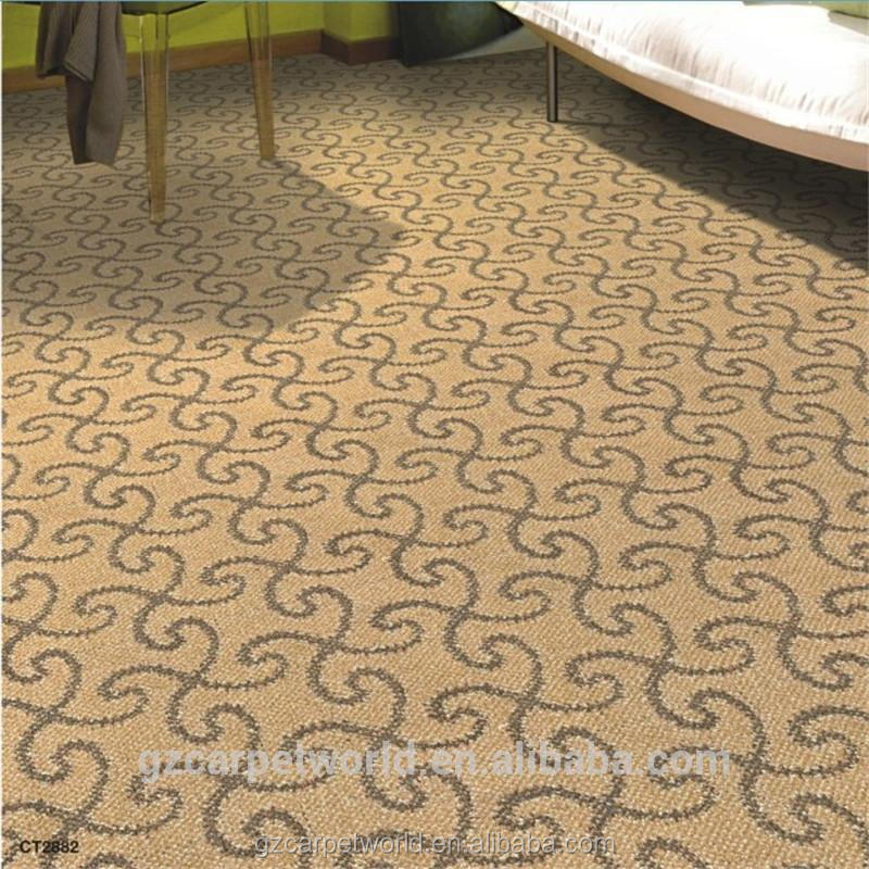 Good quality living room or bedroom carpets with loop pile and PP Backing