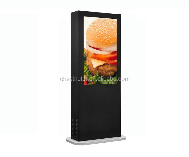 Internet Outdoor Touch Screen Kiosk,Lcd Screen Advertising with screen of Samsung, LG, AU