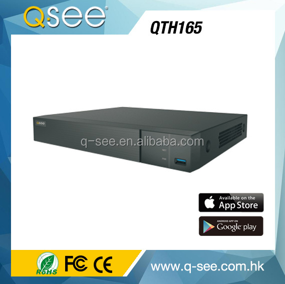 Q-SEE USA 16 chananel TVI/AHD 2 IN 1 4MP recording Hybrid dvr HDMI 4K output cctv dvr mother board