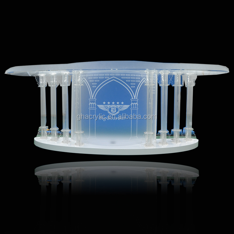 Gh-s027 Glass Church Pulpit For Church,Led Pulpit Design,Acrylic ...