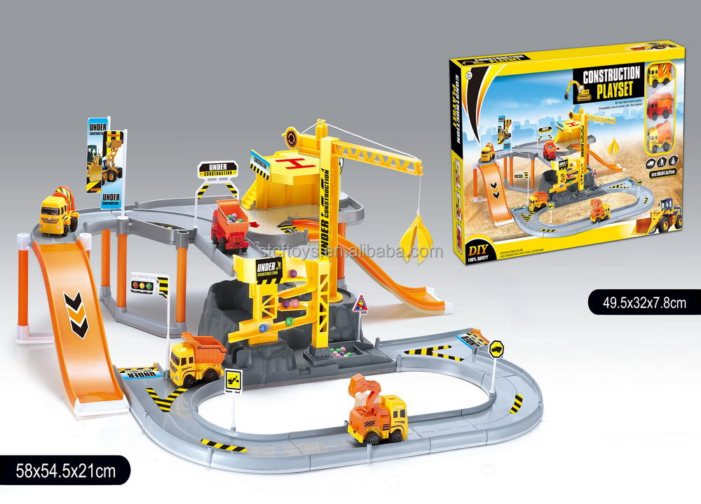 Toy Car Track : Railway tickets booking smoke train toy sets electric