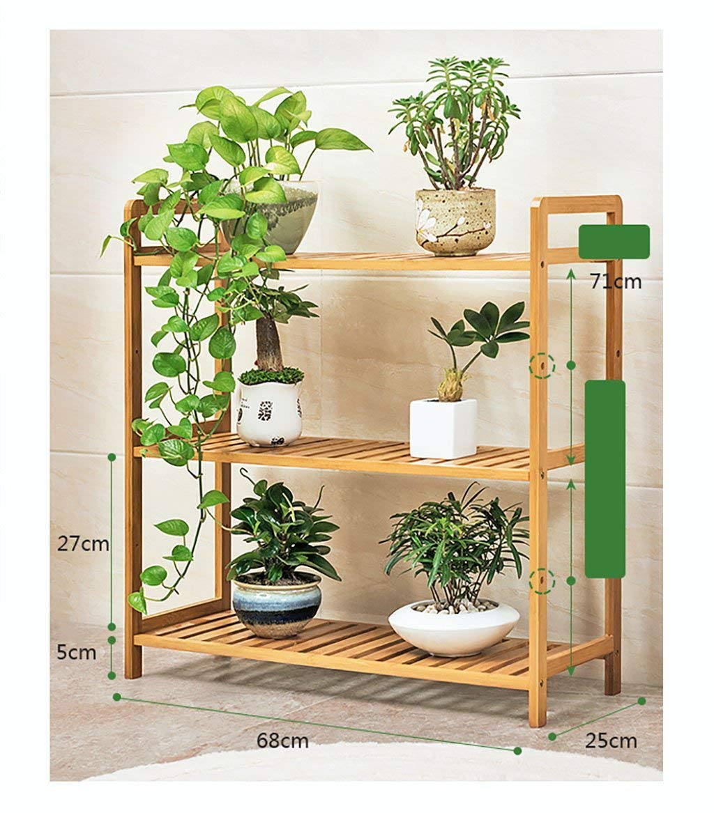 Chairs FL Pergolas/flower racks Multi-storey floral display Multi-function indoor/outdoor wood flower stand Simple modern style flower stand flower display stands (Size : 682571cm)