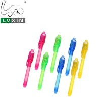 Built in Uv Light Black Light Invisible Ink Marker Pen With 4 Colors