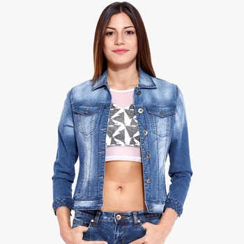 Wholesale Oem Custom Denim Jacket Fancy Girls From China Hoyugo