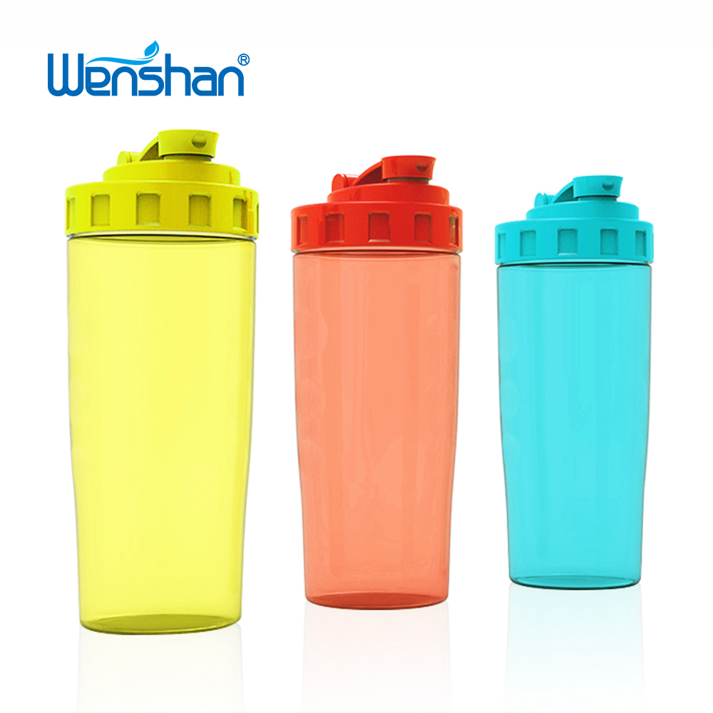 running protein shaker plastic sport water bottle for nutrition