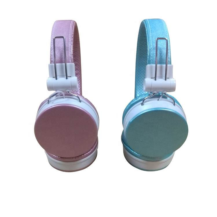 Fashionable high quality exquisite premium wired pink foldable headphone for girls/kids