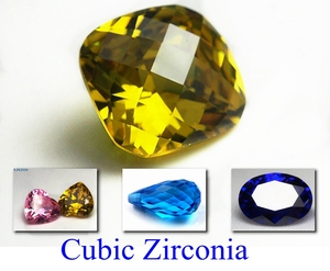 Wholesale signity gold cz stone checker cushion cubic zirconia stone