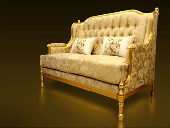 Superieur Classic Design Furniture Arabic Style Royal Golden Aluminium Frame Luxury  Elegant Living Room Home Sofa Malaysia