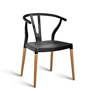Modern simple home chair / study desk and chair / restaurant chair / solid wood dining chair / leisure backrest chair ( Color : Black )
