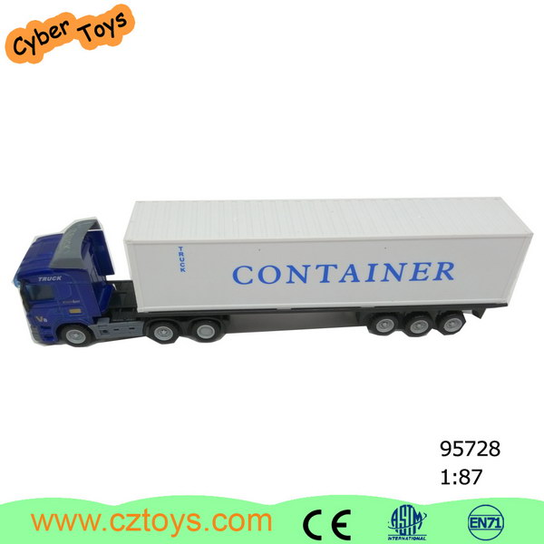 Container truck carrier, scale maersk container model