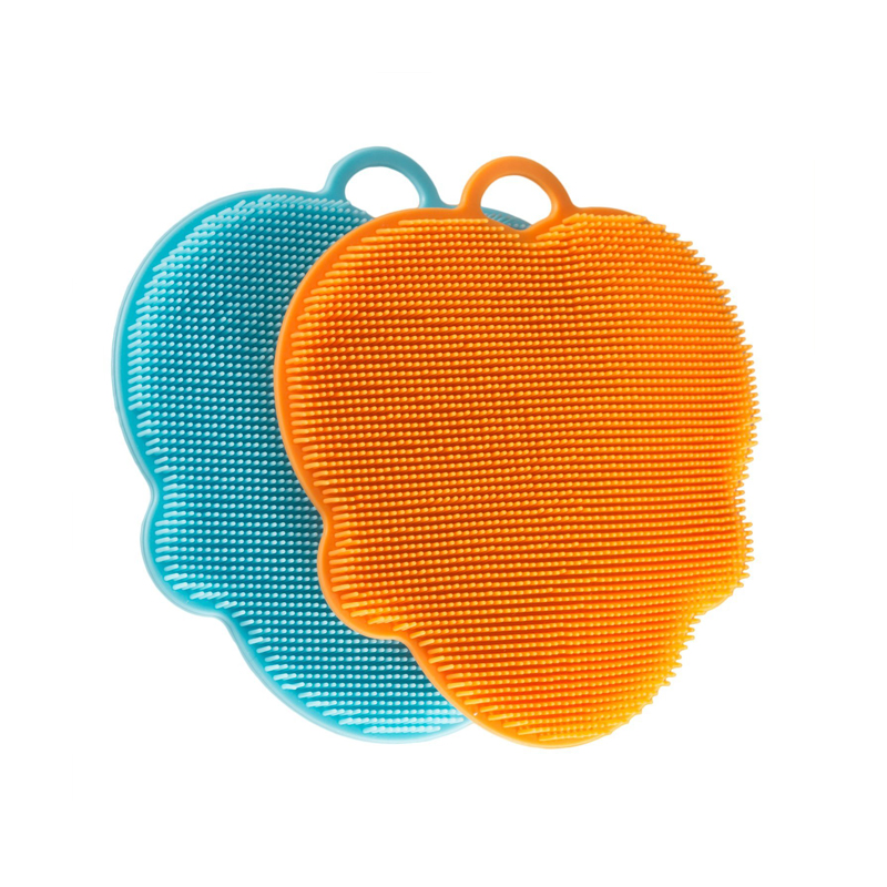 Silicone Sponges, Food-Grade Antibacterial Silicone Dishwashing Scrubber, Multipurpose Non Stick Mildew-Free Brush for Kitchen