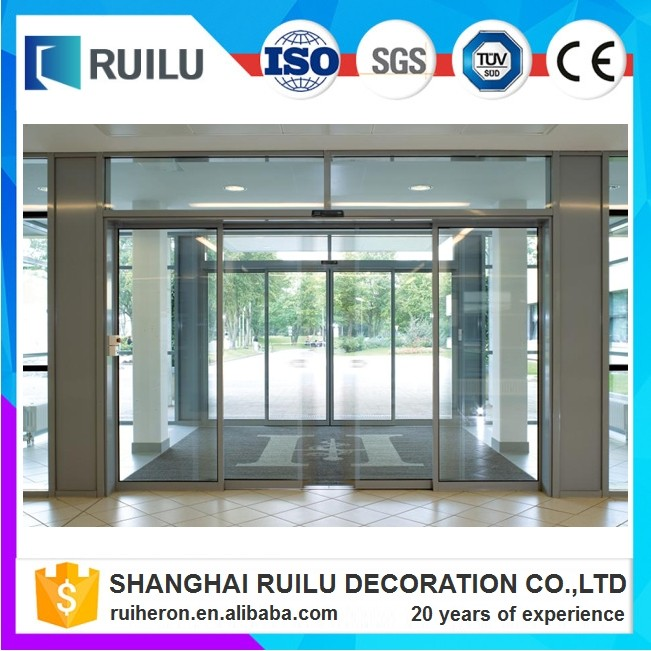 Commercial automatic sliding glass sensor door