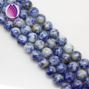 Wholesale Natural blue spot stone Gemstone Loose Beads 14mm