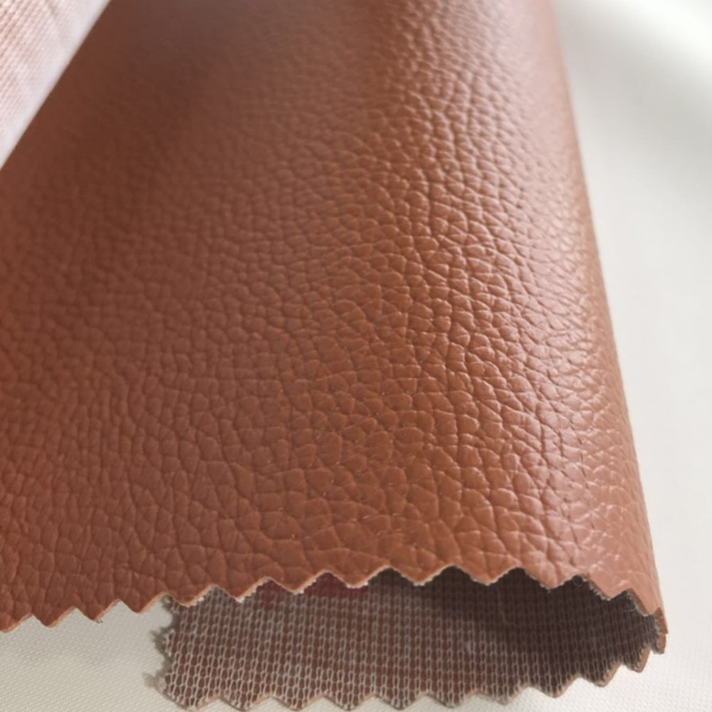 Lichi Pattern Fabric PVC Leather Abrasion Resistant Easy to Maintain for handbag, Furniture, Stationery.