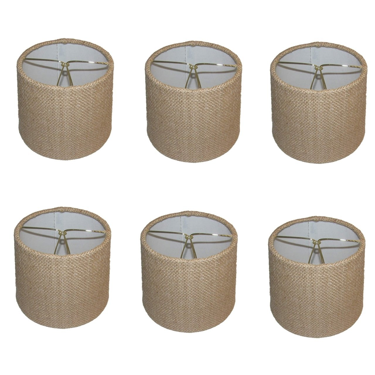 Cheap burlap chandelier shades find burlap chandelier shades deals get quotations upgradelights set of 6 rolled edge burlap drum chandelier shades 6 inch dia mozeypictures Image collections