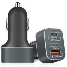 Car charger USB C car charger for mobile phone and macbook air
