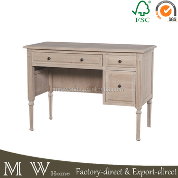 French Oak Wooden Office Desk, High Quality School Desk, Computer Desk