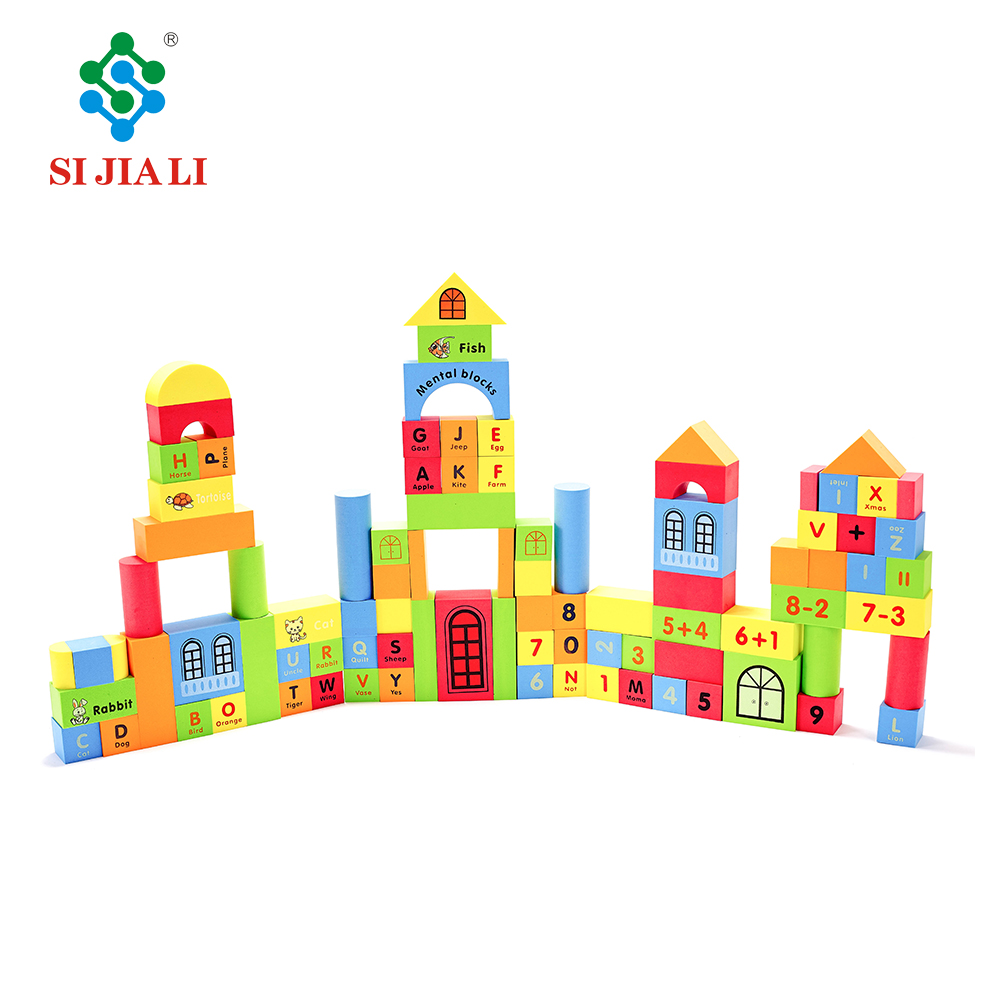 Set of 93pcs kids eva foam building blocks intelligent blocks toys