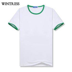 Wintress Cheap China slim fit blank t-shirt customized logo man t-shirt,two tone t-shirt,soft sweat-absorbent white shirt