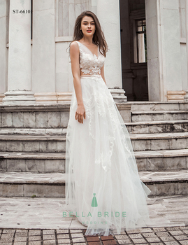 Latest Decent Beach Wedding Dresses Bridal Party Gown Ivory Lace Guest Bride Anniversary