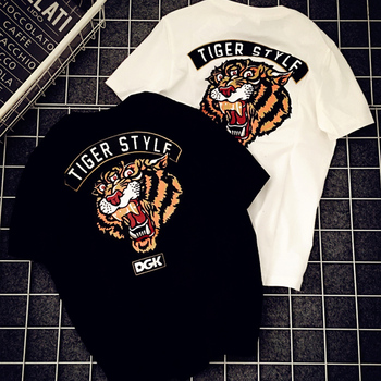 c141146a91 OEM Casual Clothing Heat Transfer Printing Tiger Shirts 65%Cotton+35% Polyester  Unisex