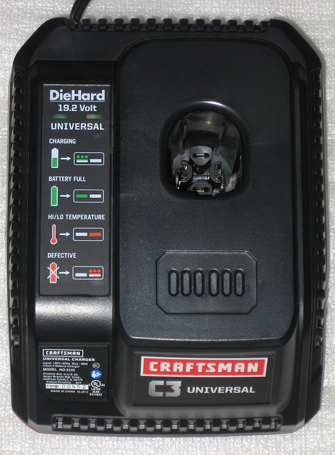 Craftsman XCP - EXTREME CORE PERFORMANCE Fast Chargers Designed for the new XCP High Capacity LITHIUM-ION BATTERY PACKS Model 315.335 (Commercial Bulk Pack)