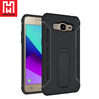 For Samsung Galaxy J1 Made In China Phone Case Pu Pc Shockproof Ultra Stand J2 Prime