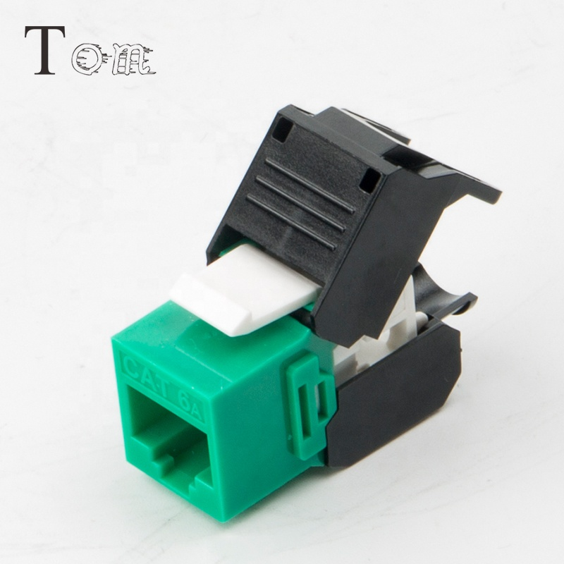 MK-N-37 Telecommunication Products colour toolless jack Utp Cat6a Rj45 Keystone Jack