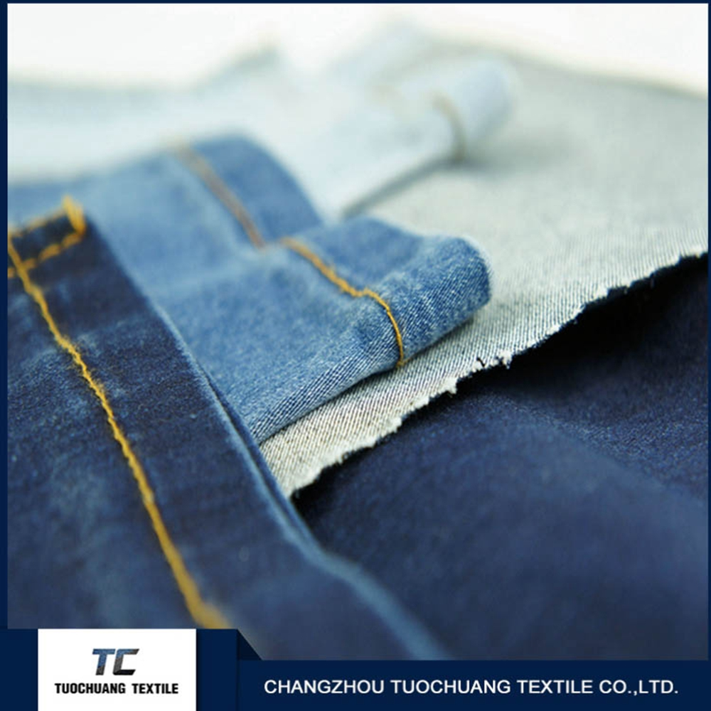 Professional manufacturer 100% cotton denim jeans fabric for clothing textiles