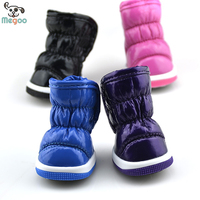 Waterproof Dog Winter Boots Durable Sky PU Snow Booties For Dogs