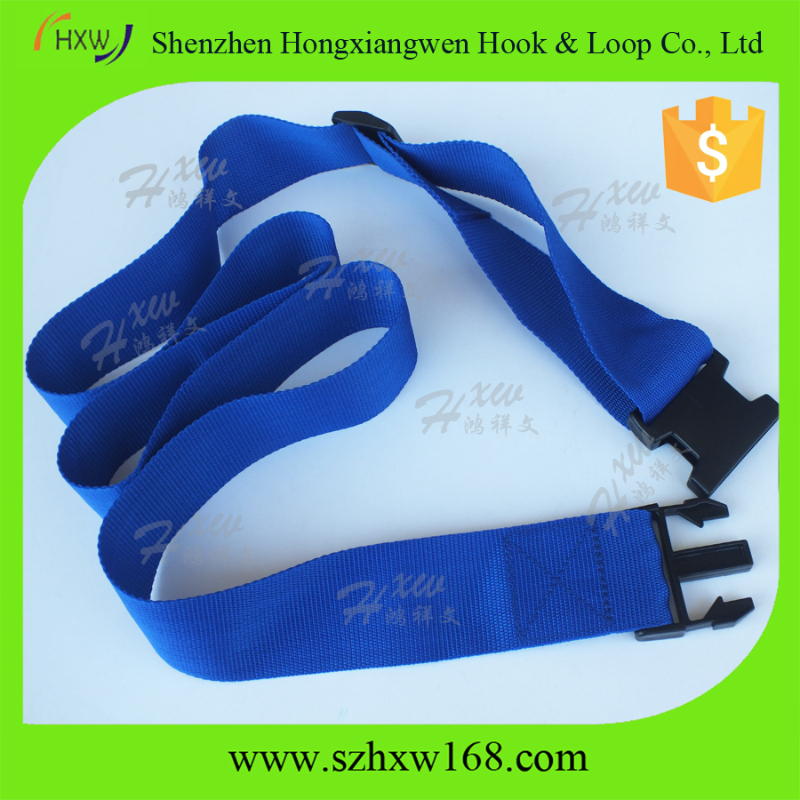 Blue Travel suitcase accessories/adjustable luggage strap/custom luggage belt