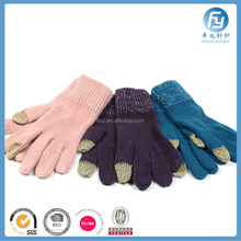 china factory 2017 new cheap warm winter knitted gloves lady fashion gloves