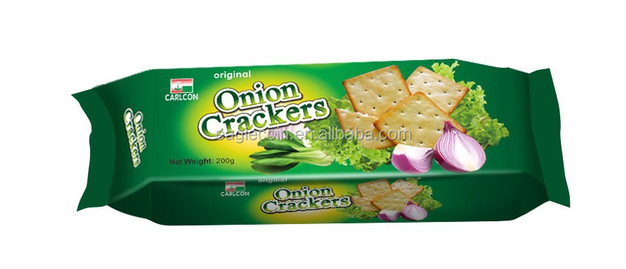 220g Diet Onion Cracker Biscuit Maker for Biscuit Importer