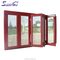 modern design commercial window frames foldable window tempered glass bi fold window Australia