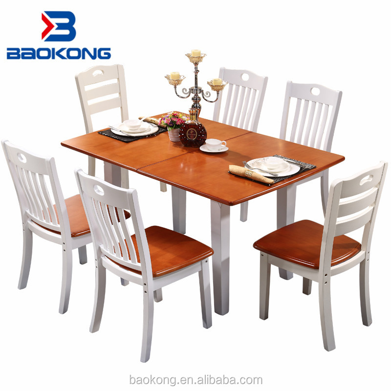 Modern SOLO Apartment Furniture Solid Wood Extendable Dining Table Set