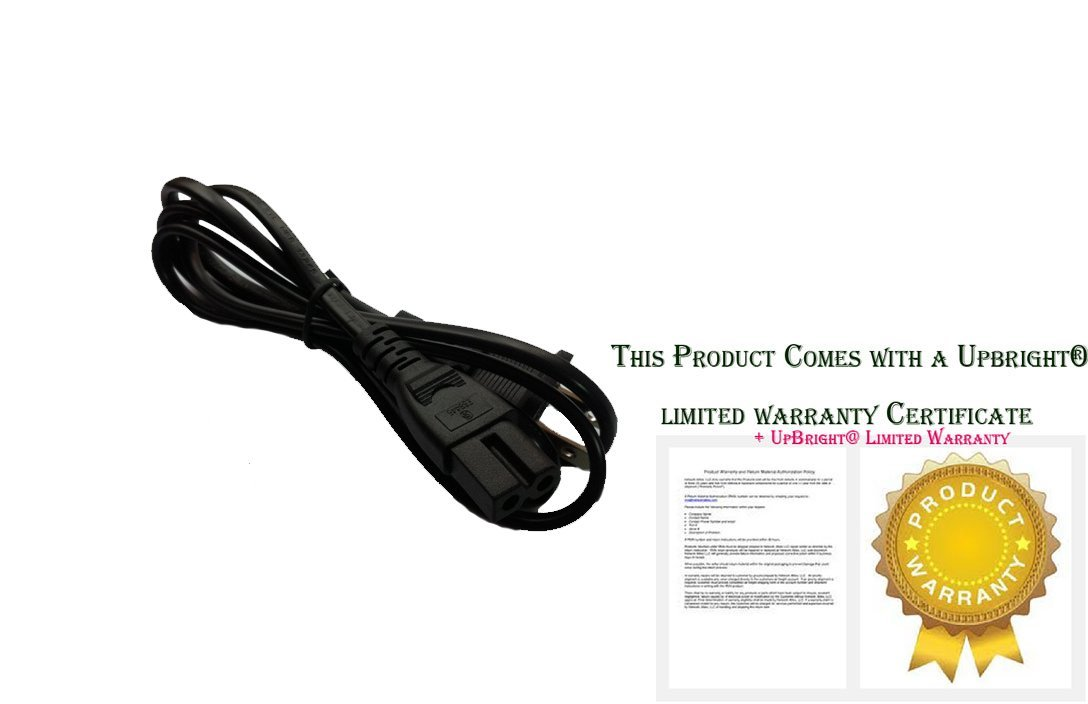 """UpBright® New 2-Pin 2 Prong AC Power Cord Outlet Socket Plug Cable Lead For Panasonic TH-50PX60U 50"""" Plasma HDTV TV Monitor Television"""