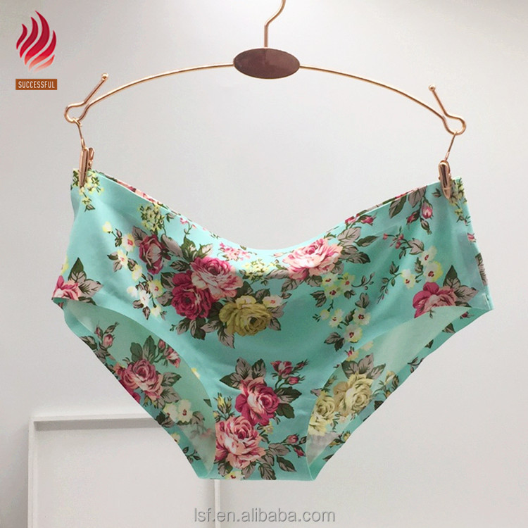 aadf924d80 Hot Sell Seamless Women Beautiful Flower Printing Panties - Buy ...