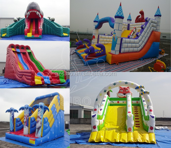 Inflatable Water Toys for kids Towable Water Slide with rubber pad in 2016