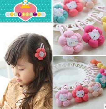 e8528e401 Brand New Kids headband hello kitty Dots Barrettes Bow Hair Clips BB  Hairpin For Girls Children