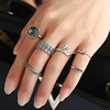 new designs six ancient silver ring sets,2017 fashion finger rings women wholesale(PR585)