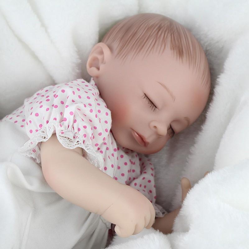 Hot Koop 16 Inch Reborn Babypop Soft Silicon Doek Lichaam