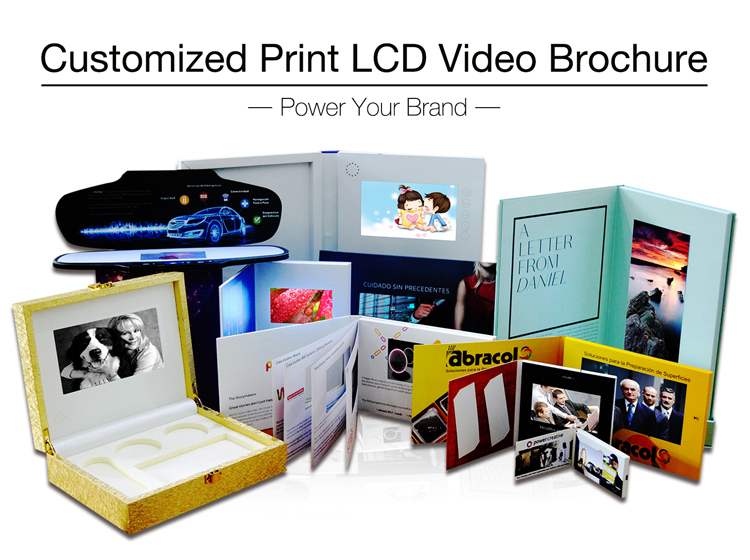 7 inch video greeting card advertising player gifts booklet for promotion