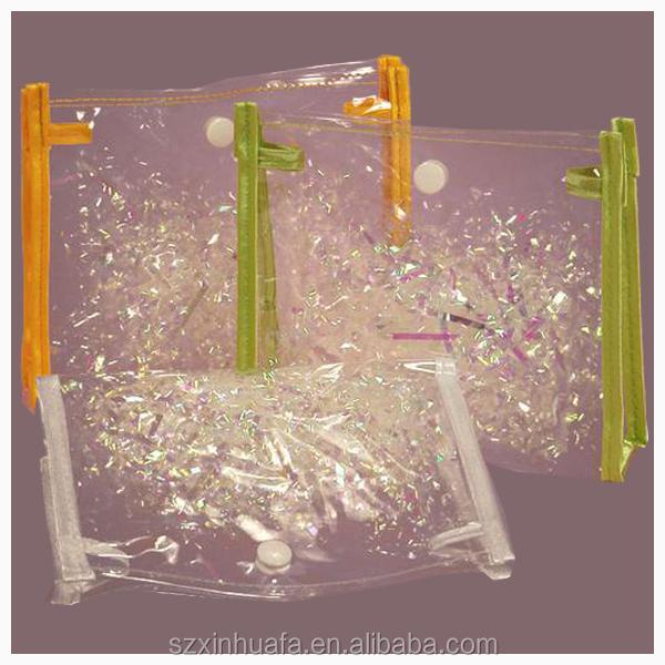 Nice transparent pvc bag with buttom closure