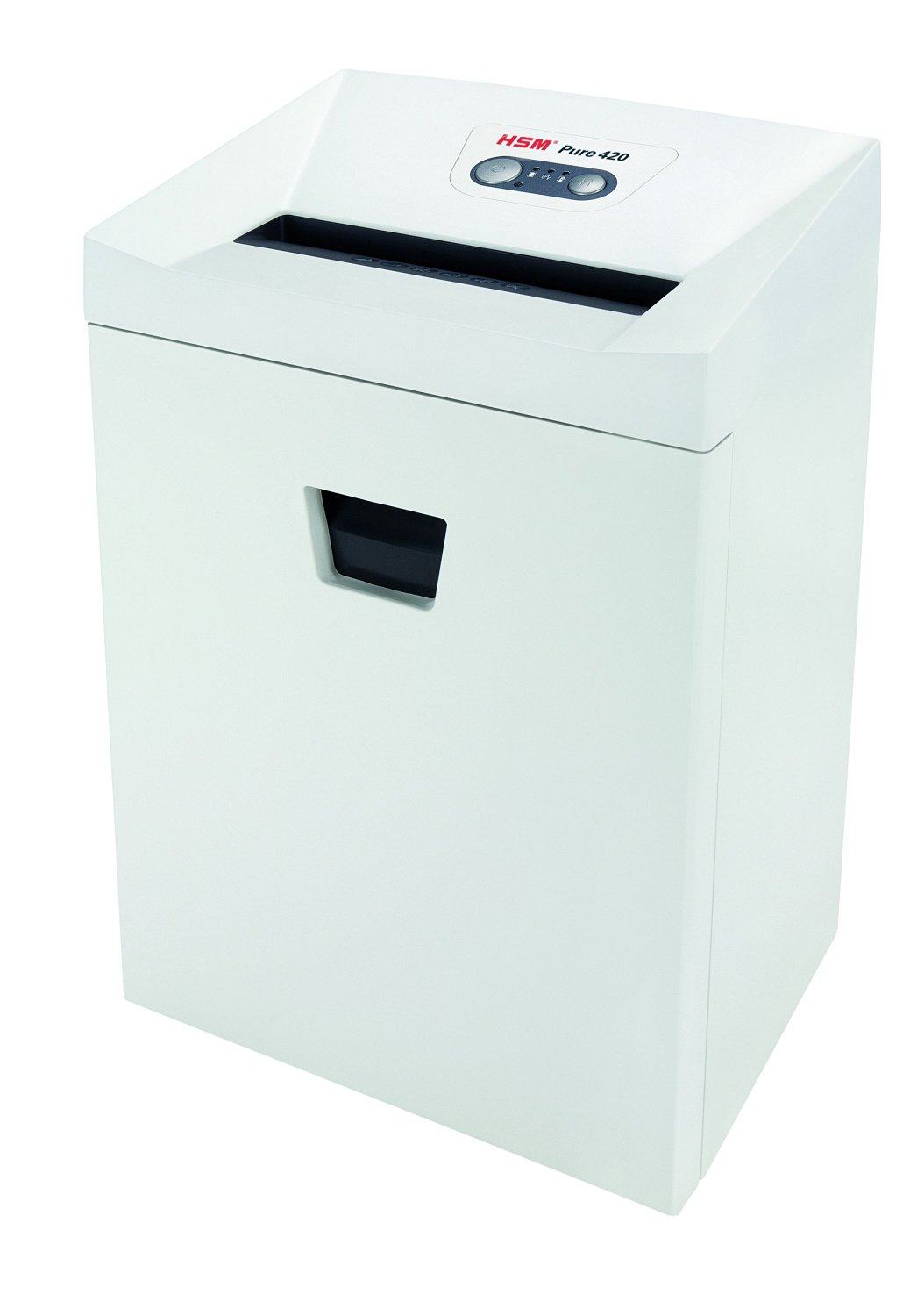 HSM Pure 420 Strip-Cut; Shreds up to 24 Sheets; 9.2-Gallon Capacity Continuous Operation Shredder