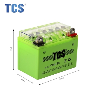 12v 4ah Motorcycle Battery YT4L-BS green motorcycle battery