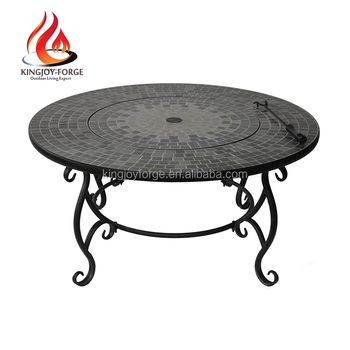 Garden Inch Tile Top Fire Pit Table With Bbq Grill Buy Fire Pit - 30 inch fire pit table