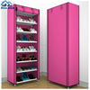 Non-woven Shoe Cabinet with Cover Fabric Shoe Storage with Rolling Door