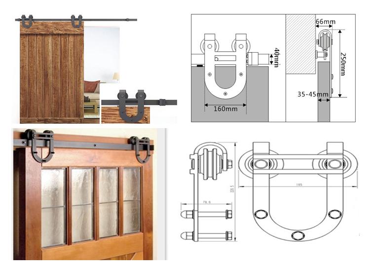 Pom factory made cheap barn hardware sliding door buy for Affordable sliding barn doors